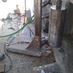 furo laje tubulação shaft