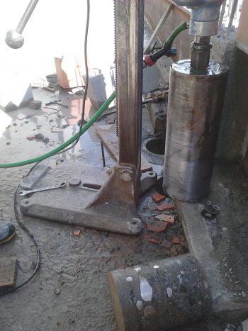 Perfuração em laje de concreto