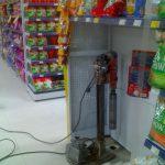 Furo laje elétrica rede supermercados
