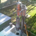 Furo para instalação grade proteção