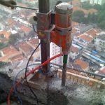 Furo para grade proteção sacada prédio